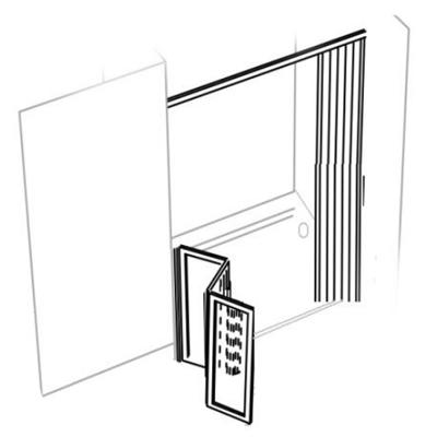 Parois de douche en niche -  panneaux repliables - PO 14...