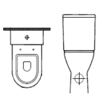 Cuvette de WC surélevée - CU 00 500 - Cuvette de wc / to...