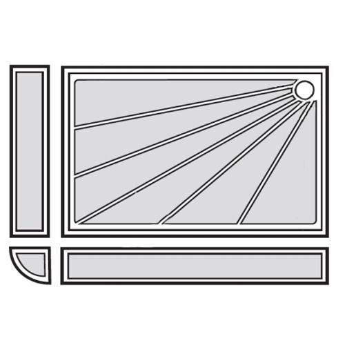 Receveur de douche - installation en angle, en façade ou...