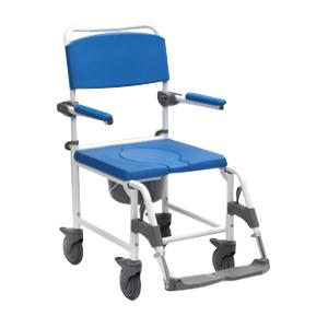 Chaise de douche/WC Aston 822165 - Chaise percée à roule...