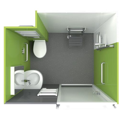 Calis - Cabine de douche avec wc/toilettes...