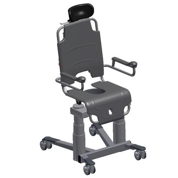 TR-1000 - Fauteuil de douche à siège percé à petite roue...