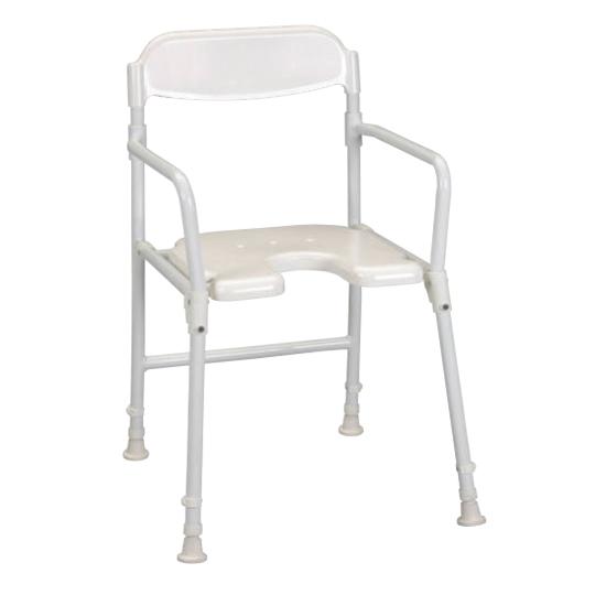 Chaise de douche pliable avec découpe Days - Chaise de d...