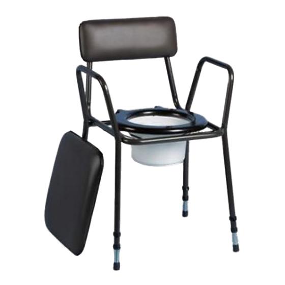 Chaise percée noire ajustable Days - Chaise percée...