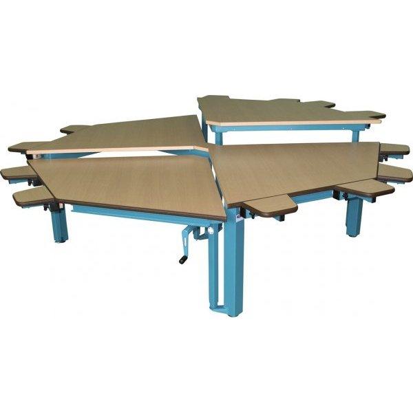 Table spécial multi HV octogonale - Table de travail à h...