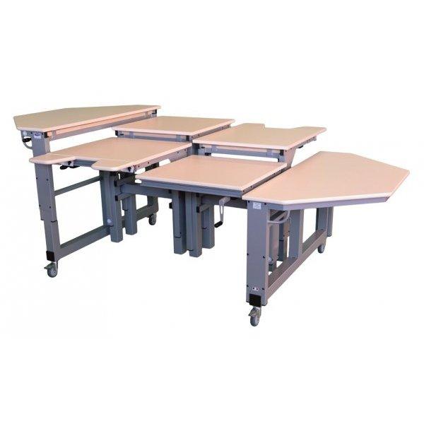 Table spécial multi-HV pluriel T - Table de travail à ha...