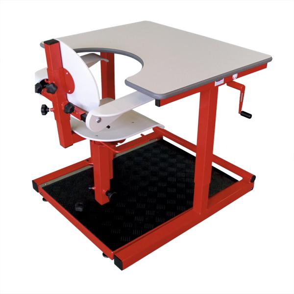 Combiné spécial HV G - Table de travail avec siège...