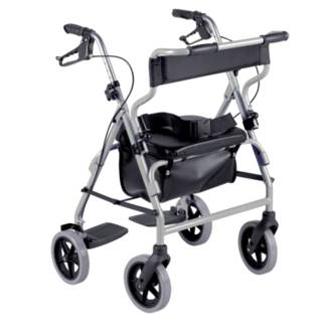 Déambulateur 4 roues fauteuil de transfert 2 en 1 - Déam...