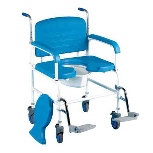 Chaise percée à roulettes XXL - Chaise percée à roulette...