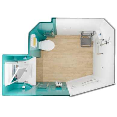 Milia - Cabine de douche avec wc/toilettes...