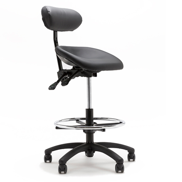 Asyncrone - Tabouret avec selle inclinable (assis-debout...