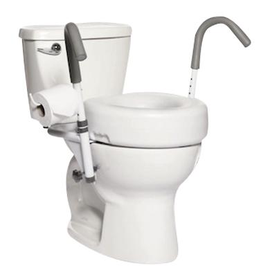 Accoudoirs de toilettes suspendus Malte - Surélévateur d...