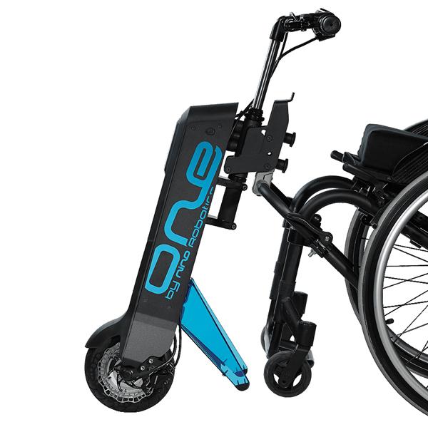 One - Troisième roue électrique pour fauteuil roulant...