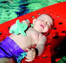 Tapis bébé à trous - Accessoire de natation...