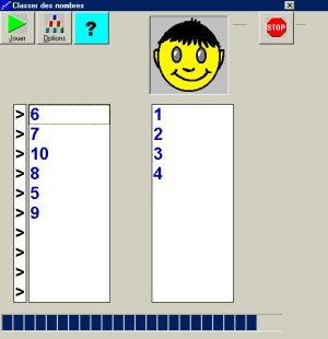 Tri de nombres - Logiciel d'apprentissage...