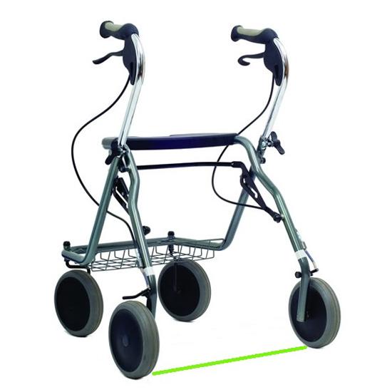 Parkinson rollator - Déambulateur à 4 roues...