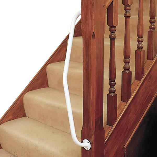 Barre d'appui pour escalier - Barre d'appui coudée fixe...