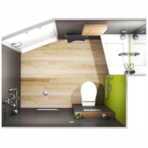 Kaury - Cabine de douche avec wc/toilettes...