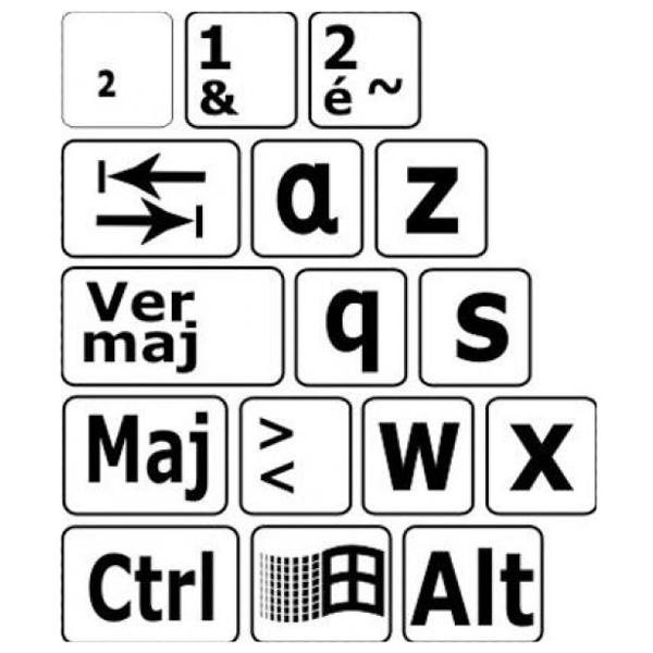 Autocollants agrandis et contrastés pour clavier - Clavi...