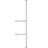 Barre sol plafond mur 046620 - Barre d'appui modulaire f...