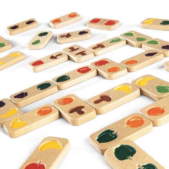 Dominos relief fruits et légumes - Jeu de société...