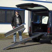 Rail de chargement RAS-F - Paire de rampes portables...