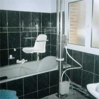 Tub fixé permanent pour la baignoire - Siège de bain élé...