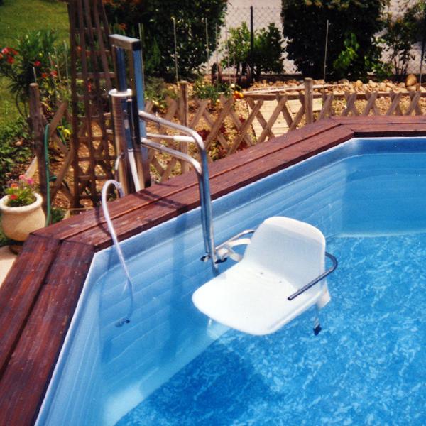 Aquasiège pour bassins hors sol - Élévateur pour piscine...