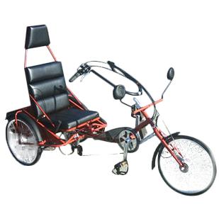 Trike - Tricycle à deux roues arrière propulse par les p...