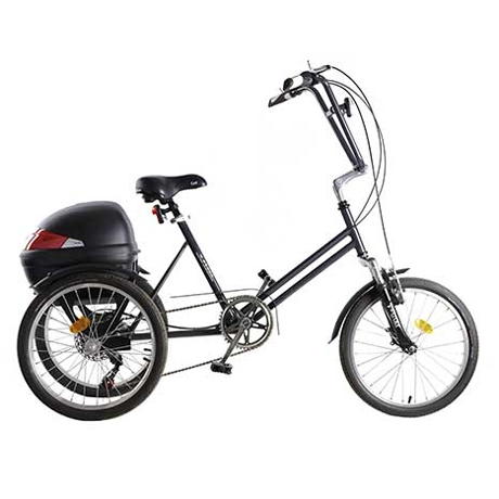 Tricycle Shopping - Tricycle à deux roues arrière propul...