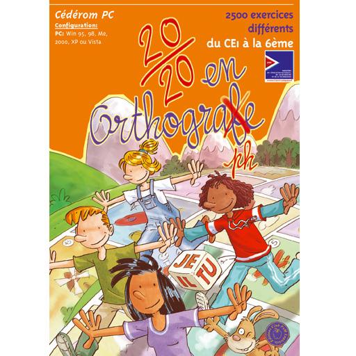 20/20 en orthographe - Logiciel d'apprentissage...