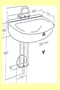 Support de lavabo R121